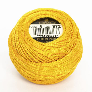 DMC Perle 8 thread - 972 - Bright Canary