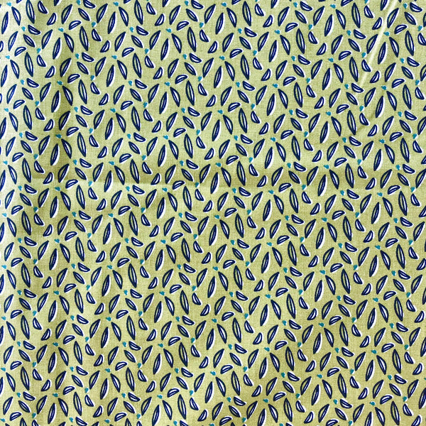 Le Tissu  by Domotex- Hoja foliage in pale olive