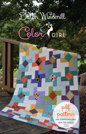 Dutch Windmill - Quilt pattern from Color Girl Quilts