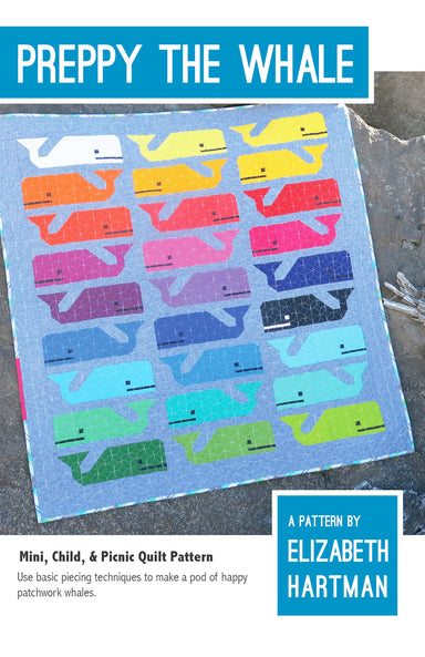 Elizabeth Hartman - Preppy the Whale- Quilt Pattern