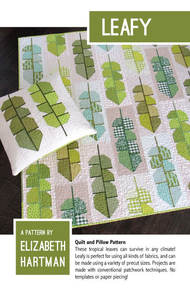 Elizabeth Hartman - Leafy quilt  and pillow pattern