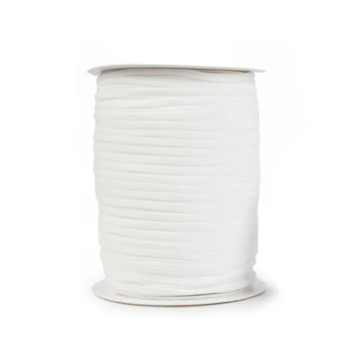 3mm Round  Elastic - white