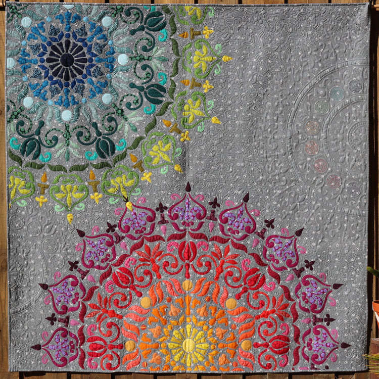 Mandalicious quilt pattern