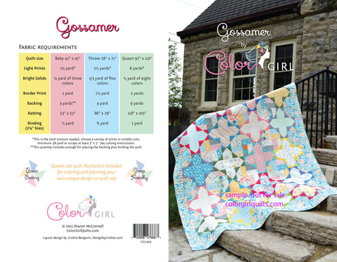Gossamer - Quilt pattern from Color Girl Quilts