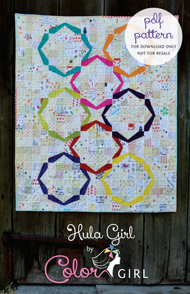 Hula Girl - quilt pattern by Color Girl Quilts