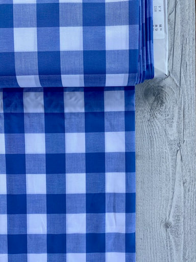 Japanese Gingham - 1.5 inch in blue