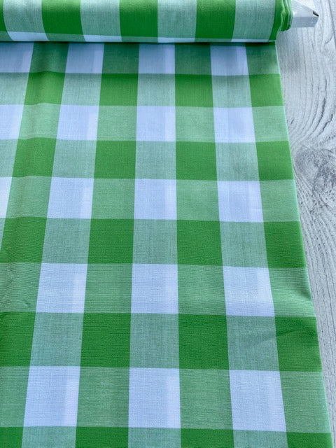 Japanese Gingham - 1.5 inch in leaf green