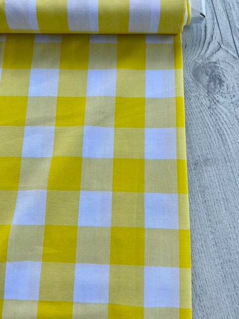 Japanese Gingham - 1.5 inch in yellow