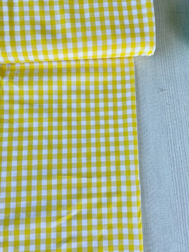 Japanese Gingham - 1/4 inch in yellow