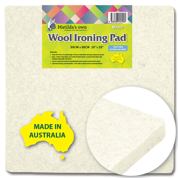 Matilda's Own - 50 x 50cm Wool Ironing Pad