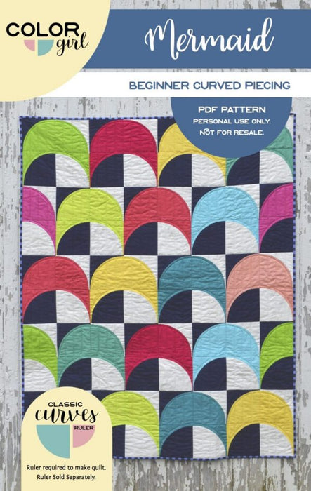 Mermaid - pattern by Color Girl Quilts