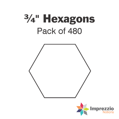 3/4 inch hexagon papers - pack of 480