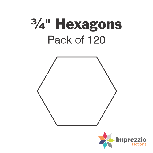 3/4 inch hexagon papers - pack of 120