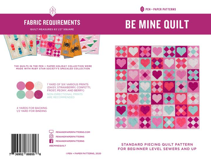 Pen + Paper Patterns - Be Mine Quilt pattern