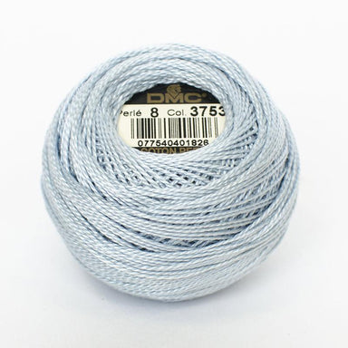 DMC Perle 8 thread - 3753 - Ultra Very Light Antique Blue - The Next Stitch