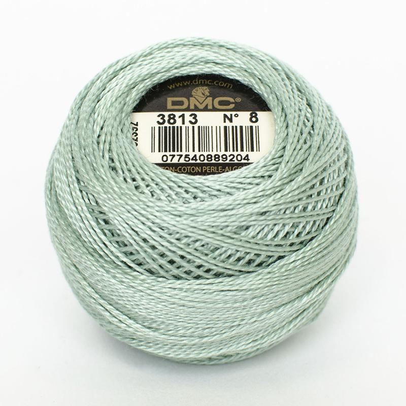 DMC Perle 8 thread - 3813 - Light Blue Green - The Next Stitch