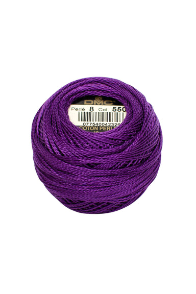 DMC Perle 8 thread - 550 - Very Dark Violet - The Next Stitch