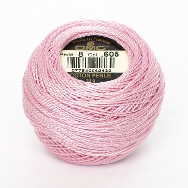 DMC Perle 8 thread - 650 - Very Light Cranberry - The Next Stitch