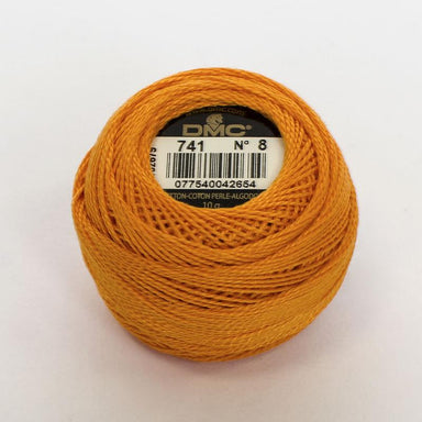 DMC Perle 8 thread - 741 - Medium Tangerine - The Next Stitch