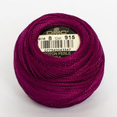 DMC Perle 8 thread - 915 - Dark Plum - The Next Stitch