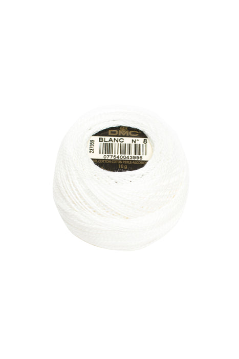 DMC Perle 8 thread - BLANC - The Next Stitch