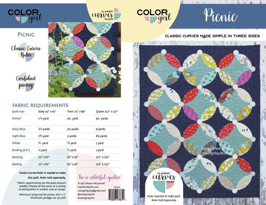 Picnic - quilt pattern by Color Girl Quilts