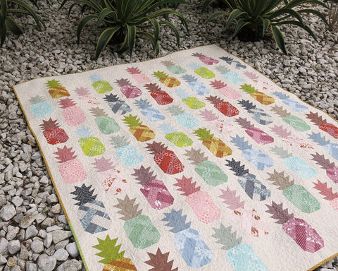Pineapple Farm - quilt and pillow pattern by Elizabeth Hartman