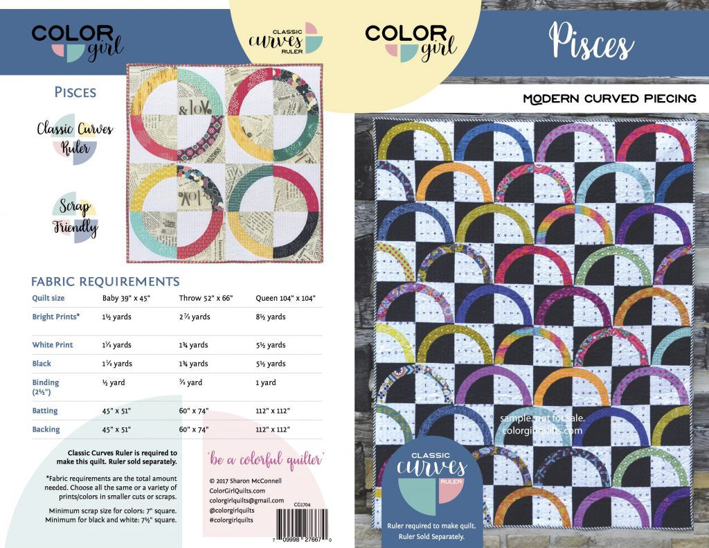 Pisces - quilt pattern by Colour Girl Quilts