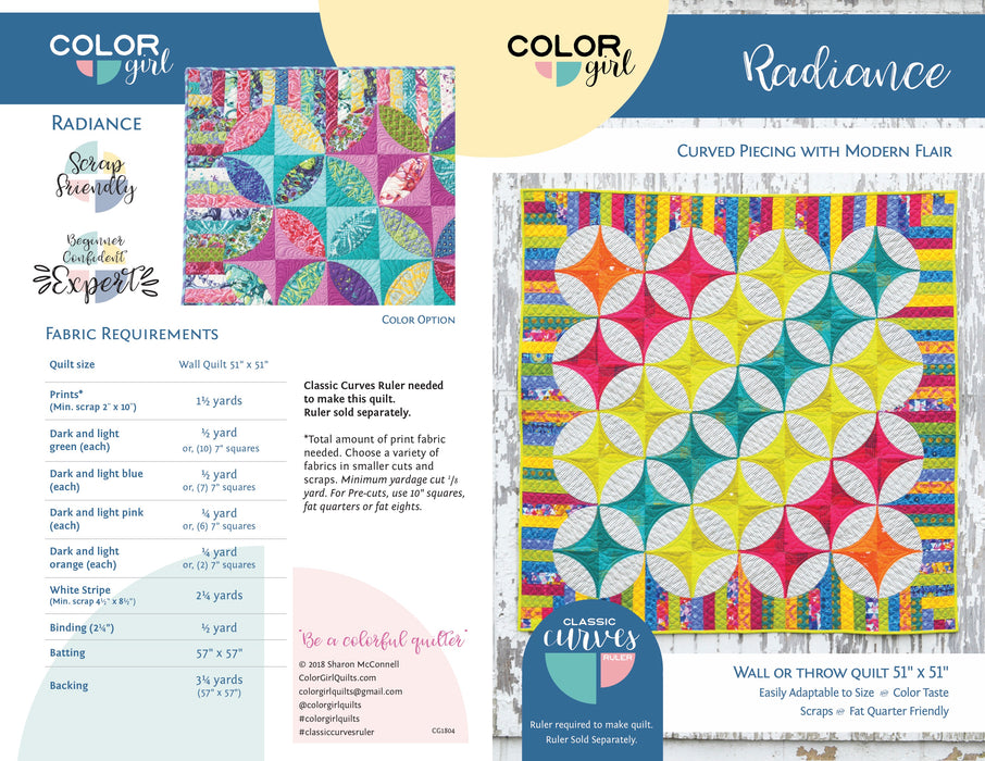 Color Girl Quilts - Radiance Quilt Pattern