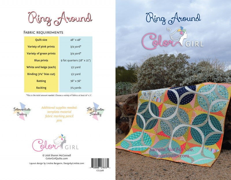 Ring Around- quilt pattern by Color Girl Quilts