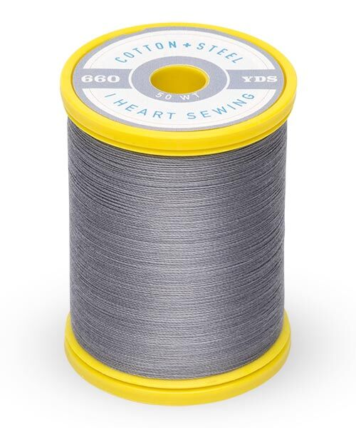 Cotton and Steel Thread by Sulky -  Sterling grey