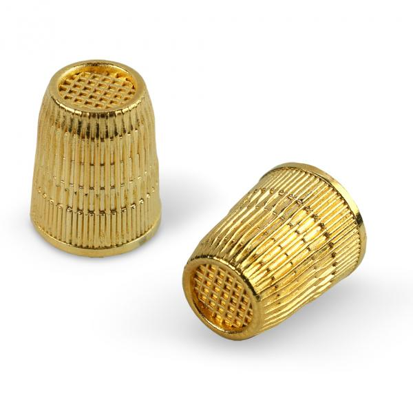 Thimble - Gold plated- size 14mm (extra small)