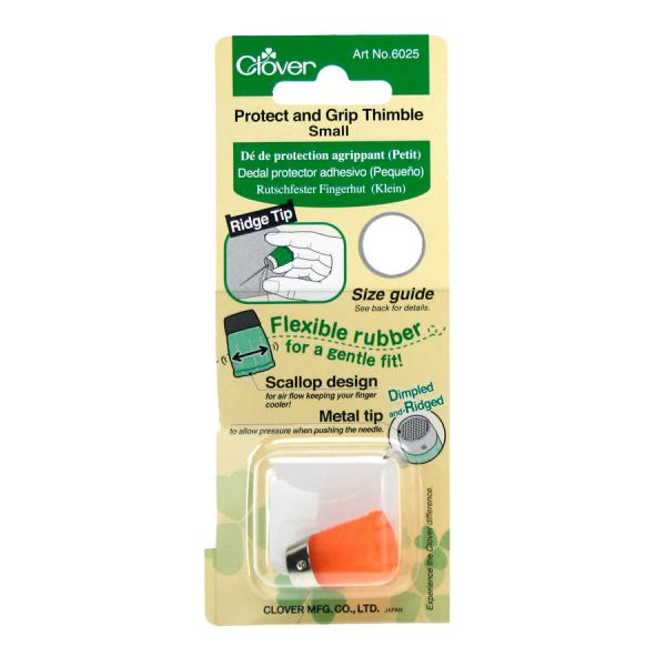Clover Protect & Grip thimble - small (orange)