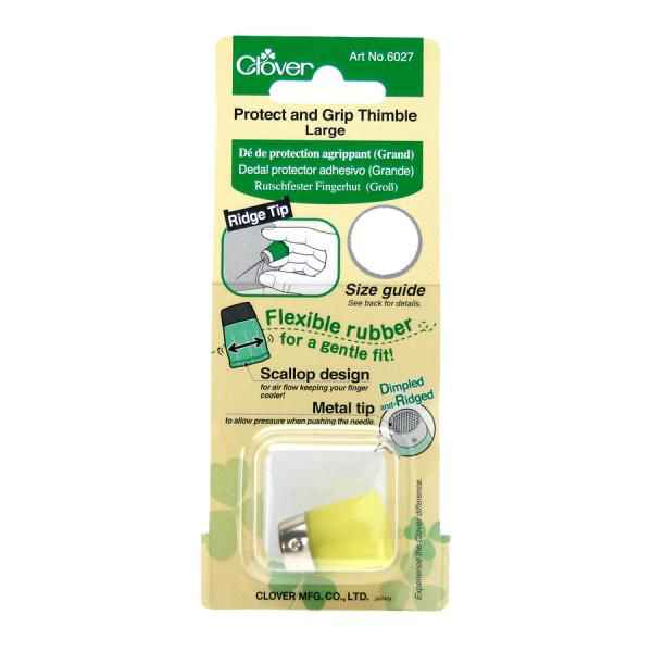 Clover Protect & Grip thimble - large (yellow)