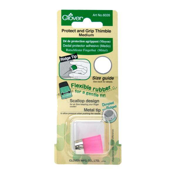 Clover Protect & Grip thimble - medium (pink)
