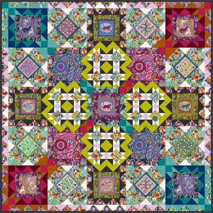 Wild - Conservatory Chapter 3 - Endless Summer digital quilt pattern