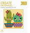 Create Handmade -  Cactus mini needlepoint kit
