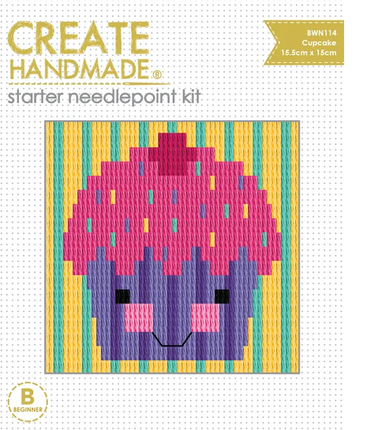Create Handmade -  Cupcake mini needlepoint kit