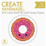 Create Handmade -  Donut mini cross stitch kit with hoop