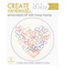Create Handmade -  Hearts embroidery kit with hoop