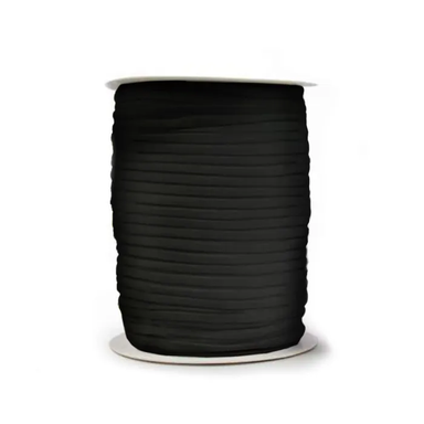 3mm Round  Elastic - black