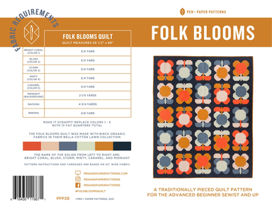 Pen + Paper Patterns - Folk Bloom quilt pattern