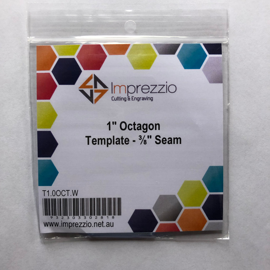 English paper piecing - 1 - inch octagon template