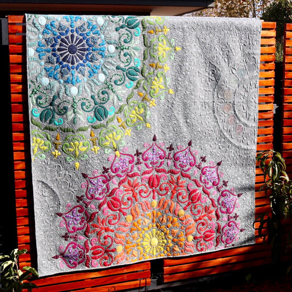Mandalicious quilt pattern & template set