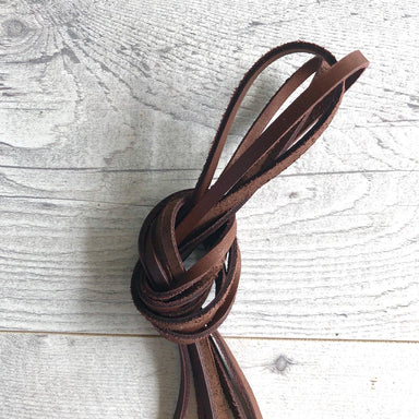 Leather zipper pulls - 3mm wide in whiskey brown
