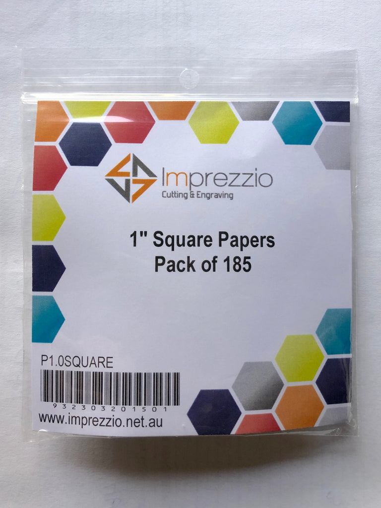 English paper piecing papers - 1 - inch square papers - pack of 185