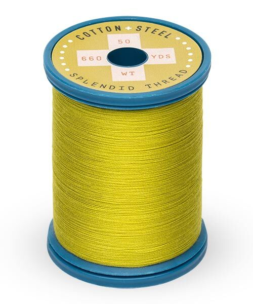 Cotton and Steel Thread by Sulky - Pea soup