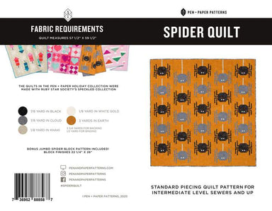 Pen + Paper Patterns - Spider Quilt pattern