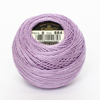 DMC Perle 8 thread - 554 - Light Violet - The Next Stitch