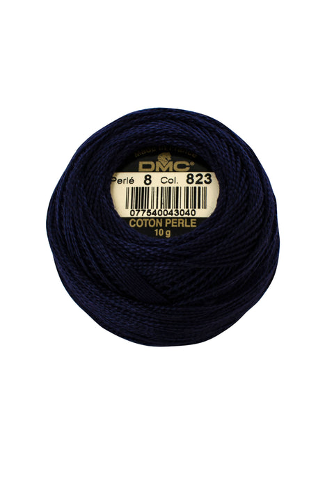 DMC Perle 8 thread - 823 - Dark Navy Blue - The Next Stitch
